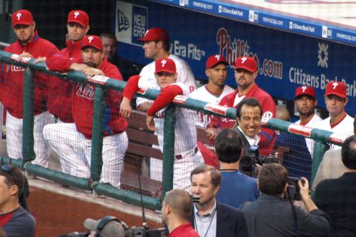 Phillies look on at Kalas' sons